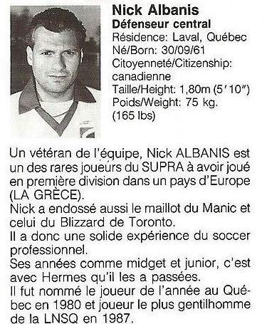 1988 Montreal Supra Nick Albanis