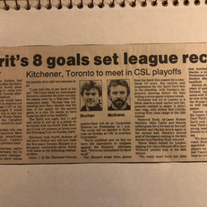 Kitchener Spirit 8 goals (c/o Peter Mackie)