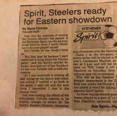 1990 Kitchener Spirit v Hamilton Steelers play offs (c/o Peter Mackie)
