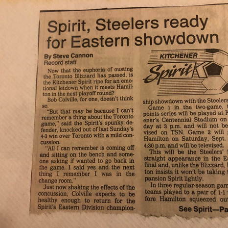 1990 Kitchener Spirit v Hamilton Steelers play offs (c/o Peter Mackie)