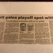 1990 Kitchener Spirit play offs (c/o Peter Mackie)