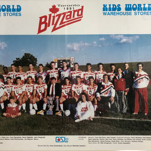 1991 Toronto Blizzard Home Team (wearing 1990 jerseys, with a 1990 roster. C/o Marco Antonucci)
