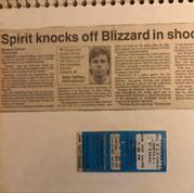 Kitchener Spirit v Toronto Blizzard ticket (c/o Peter Mackie)