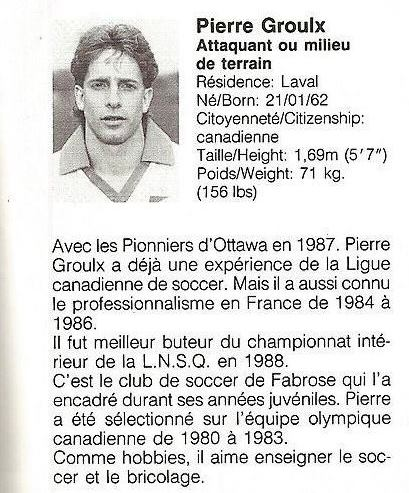 1988 Montreal Supra Pierre Grouix