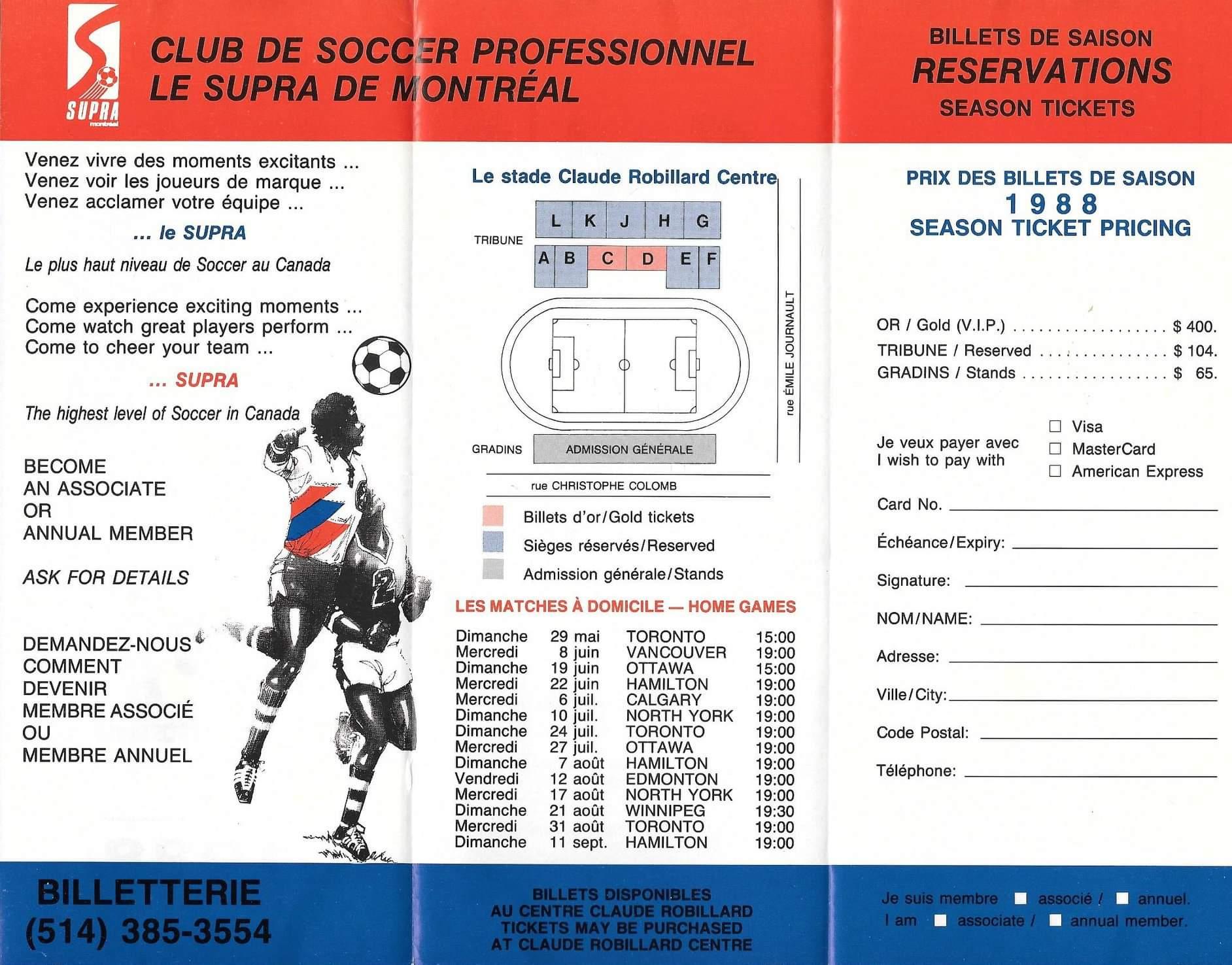 Seasons Tickets Booklet (C/O Rich Paschette)