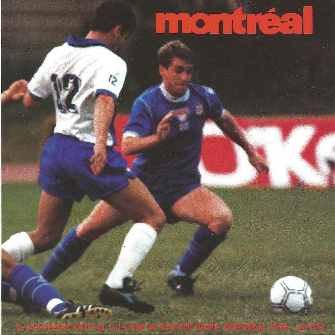 1988 Montreal Supra Home Back Patrick Diotte vs Vancouver 86ers