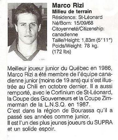 1988 Montreal Supra Marco Rizi