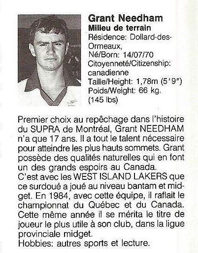 1988 Montreal Supra Grant Needham