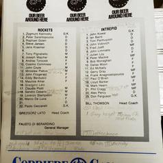 Sept 11 1988 North York Rockets v Ottawa Intrepid Rosters (c/o Robin Glover)