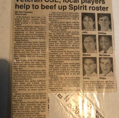 1990 Kitchener Spirit v Ottawa Intrepid (c/o Peter Mackie)