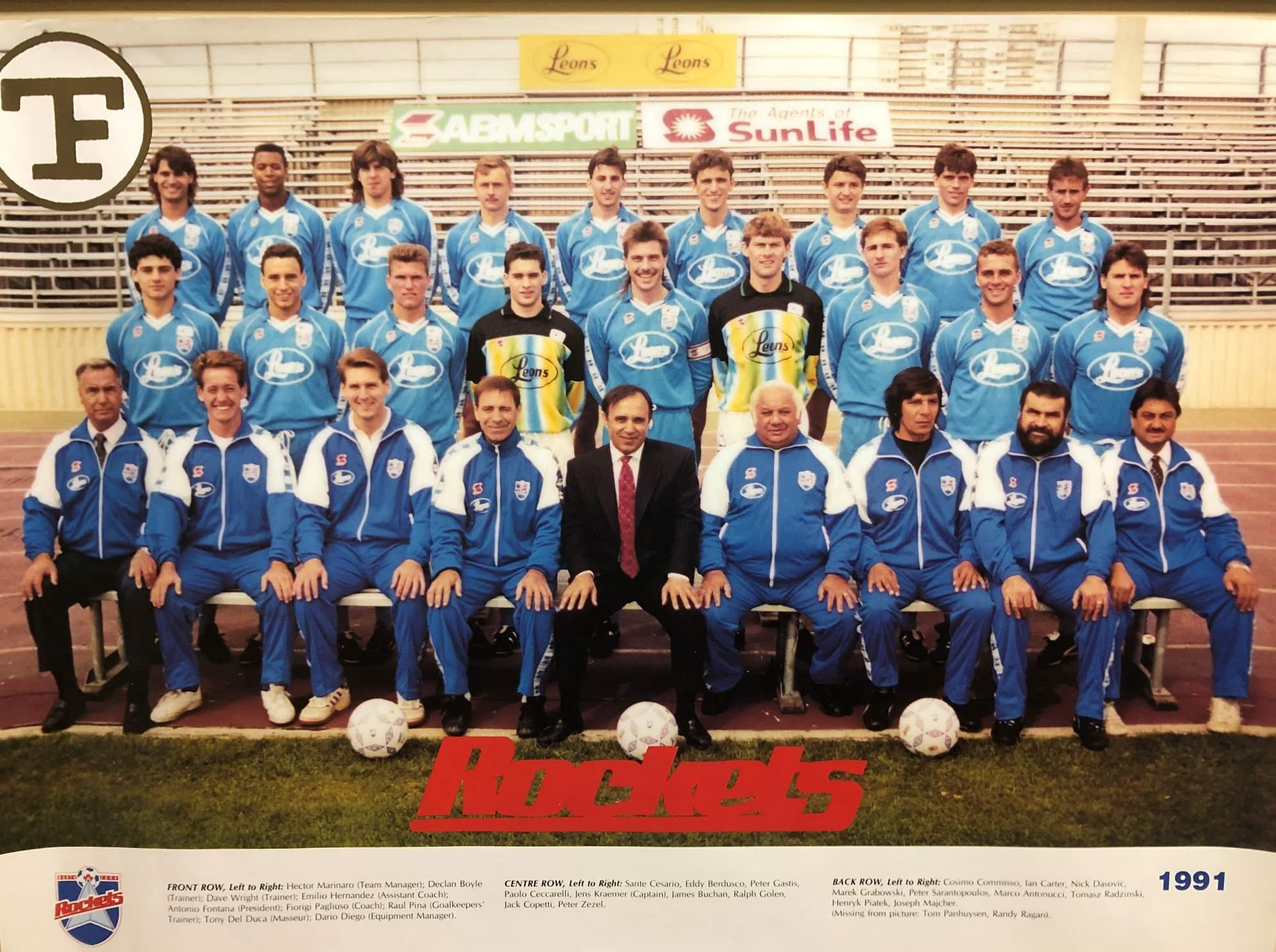 1991 North York Rockets Home (c/o Marco Antonucci)