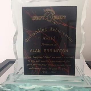 Vancouver 86ers Outstanding Achievement (c/o Alan Errington)