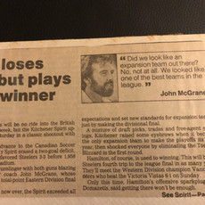 1990 Kitchener Spirit loss to Hamilton Steelers (c/o Peter Mackie)