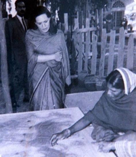 Sonia Gandhi et Chano Devi