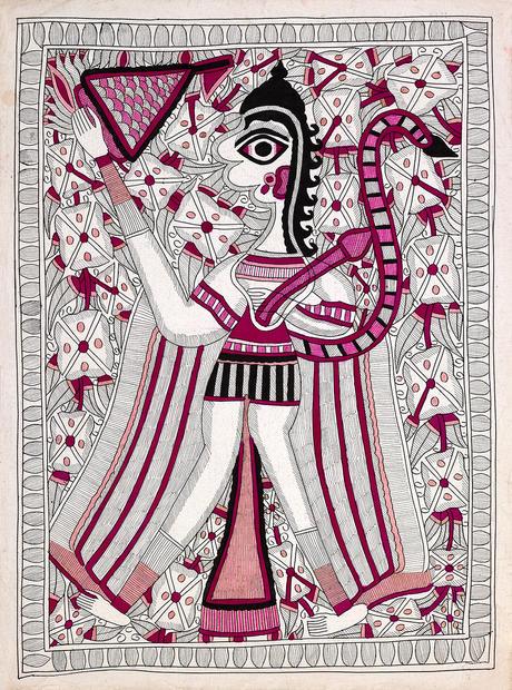 BACCHADAI DEVI CIRCA 1970-80 VEGETAL COLOURS 76X56 CM