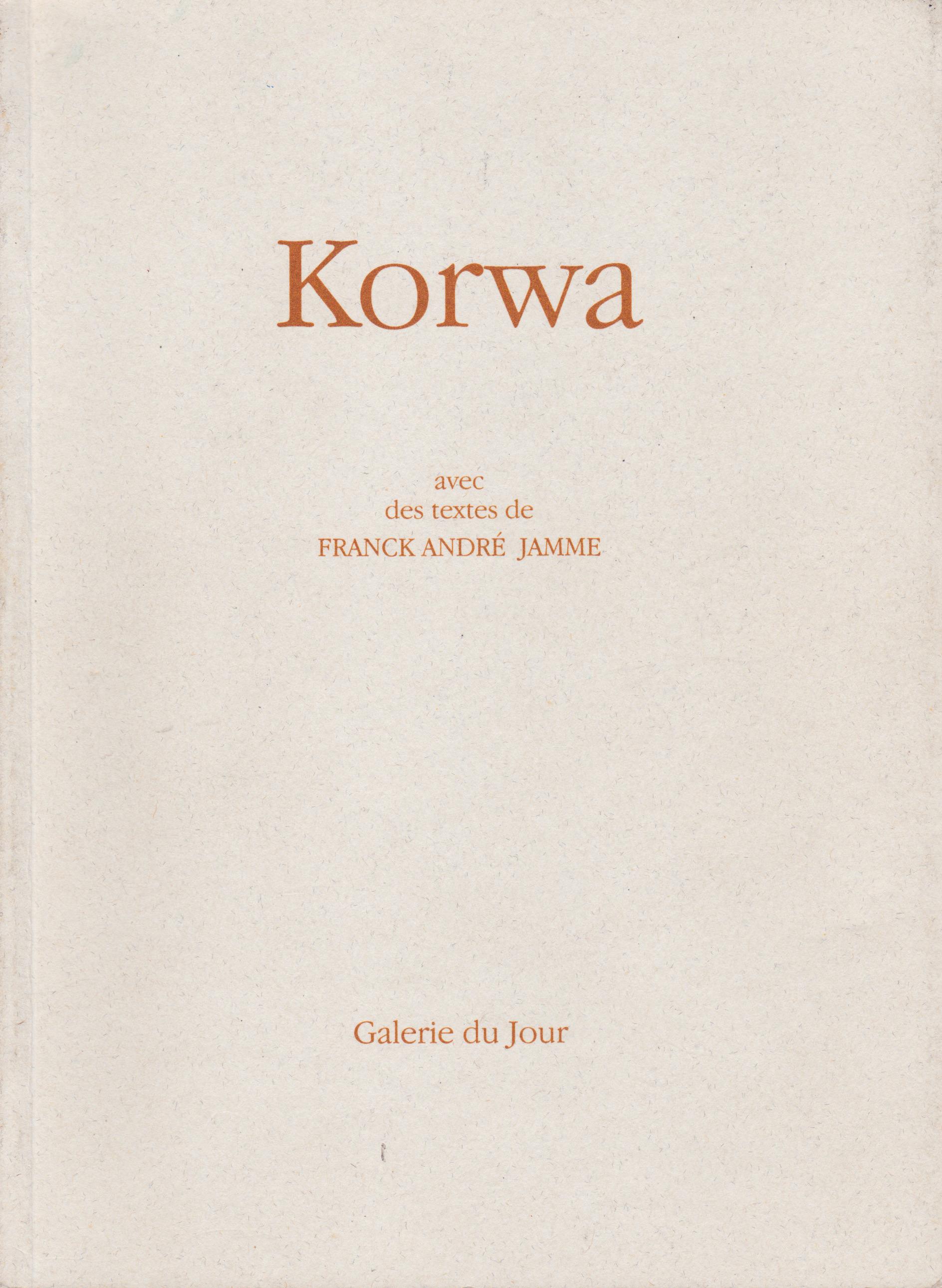 livre korwa agnes b. galerie du jour 1996