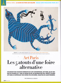 2013 beaux arts magazine art paris mars