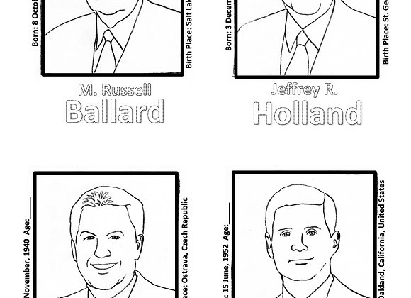 General Conf. 2020 Coloring Pages (Church of Jesus Christ of Latter-day Saints)