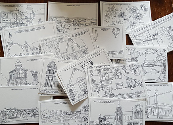 Set of Postcards of Monmouth and Independence, Oregon