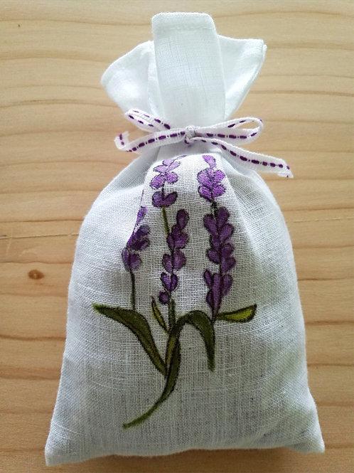 Petit sachet tissu fourni de lavande naturelle