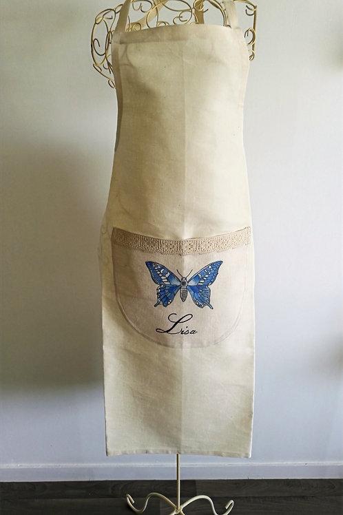 Tablier divers en coton-Lin (Métis) Peint à la main personnalisable