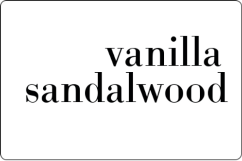 12oz Vanilla Sandalwood