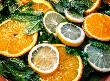 Lemon balm cordial