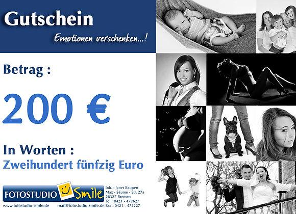 Gutschein im Wert von 200€