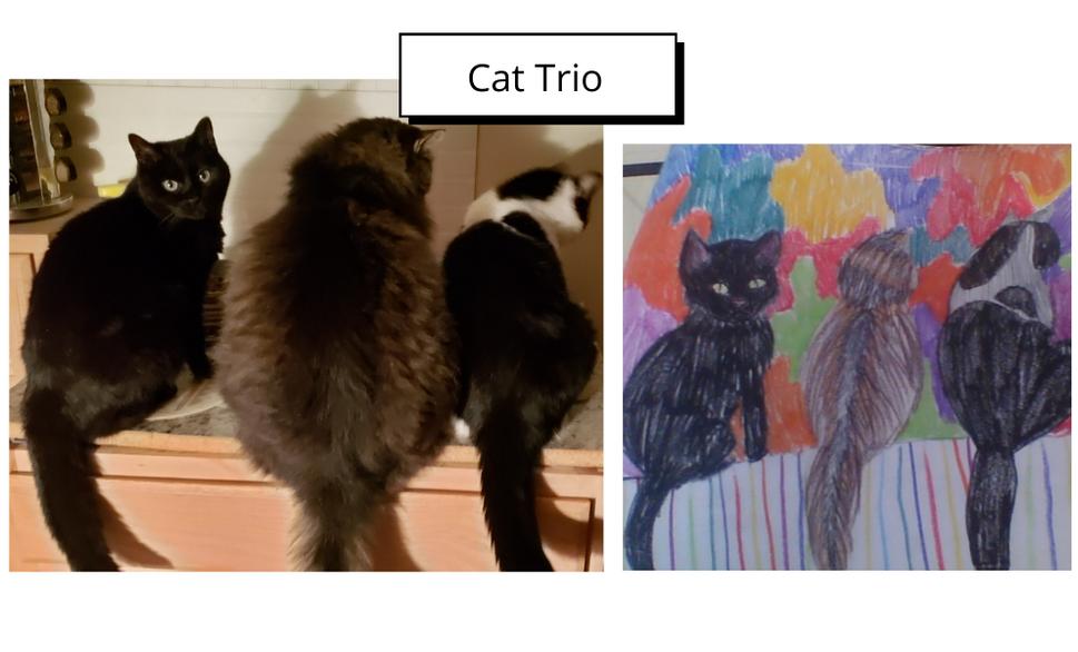 Cat Trio by Mari Purtell