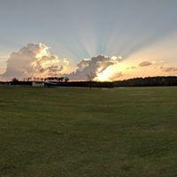 Sunset on the farm.