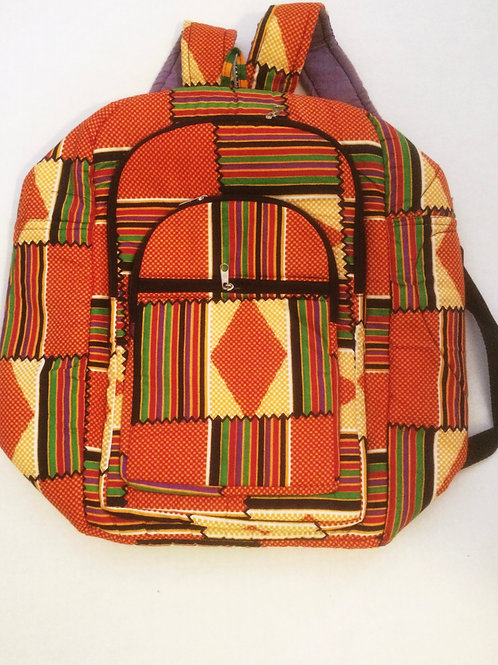 African Print Back Pack (small)