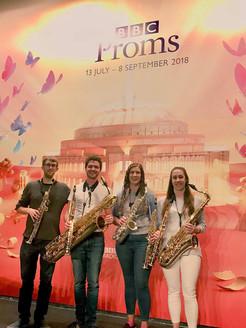 Borealis Saxophone Quartet at the Proms