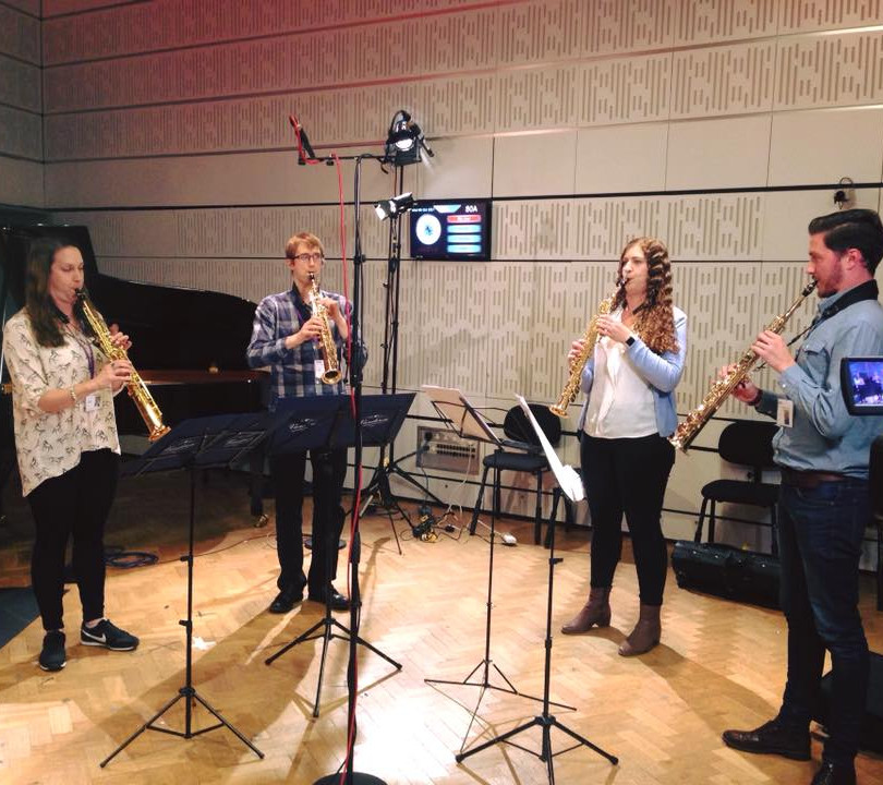 Borealis Saxophone Quartet on Radio 3