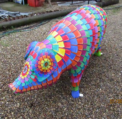 'Piñata piggy', Pigs Gone Wild, Ipswich 2016