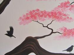 Sakura mural, Thetford 2018
