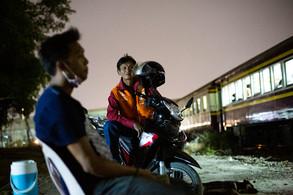 Men and Train