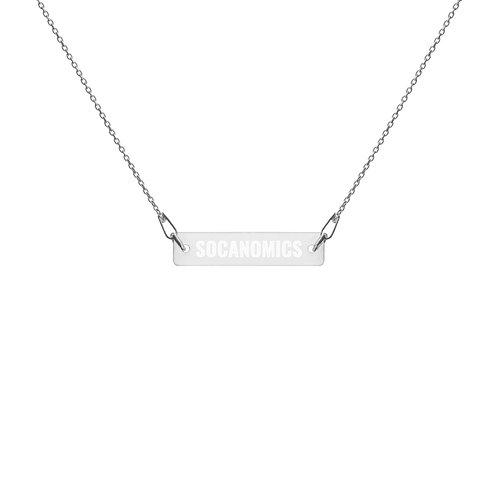 Socanomics Engraved Bar Chain Necklace