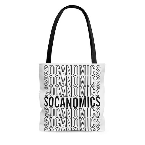 Socanomics All-Over Print Tote Bag