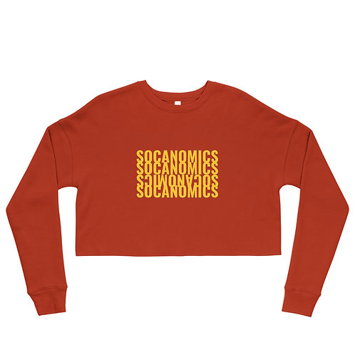 Socanomics Pop of Color Crop Sweatshirt