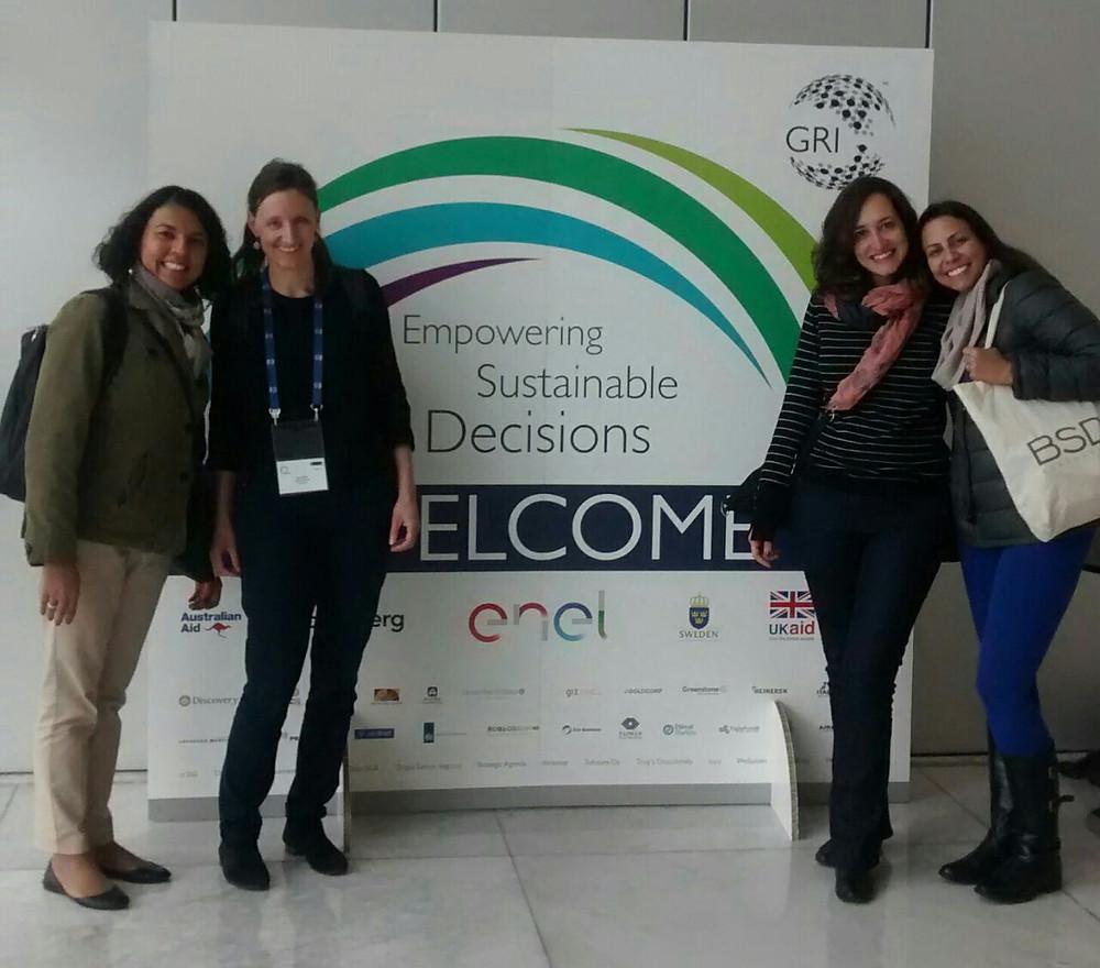 Marcela Romero (BSD Colômbia), Maria Stoll (BSD Suíça), Joyce Fernandes e Giulia Cricenti (BSD Brasil)