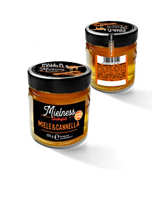 Mielness Ambrosoli graphics and packaging vasetto