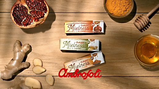 Mielness Ambrosoli graphics and packaging Stck