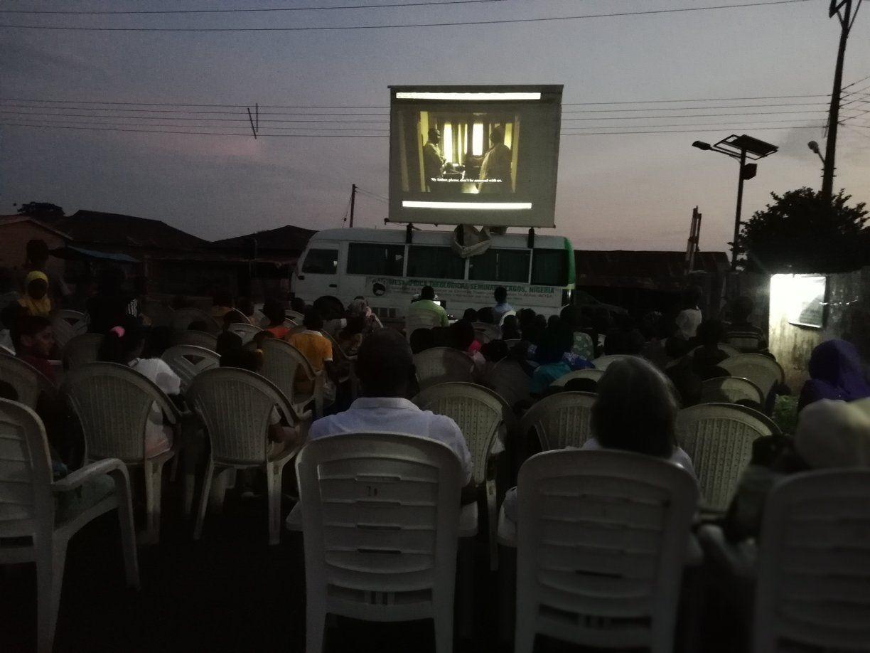 Street film viewing