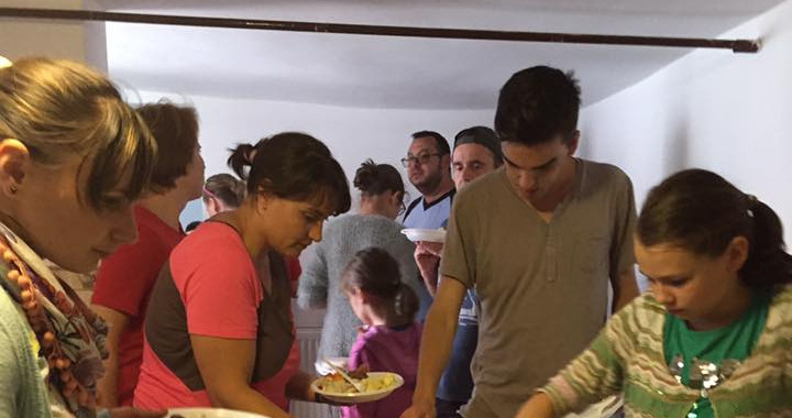 Sharing meals with missionaries and their families