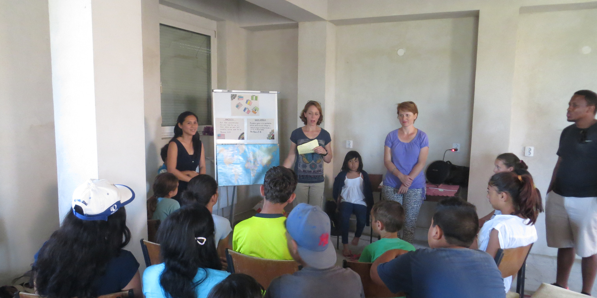 Kid's Ministry teaching them Bible verse in different languages