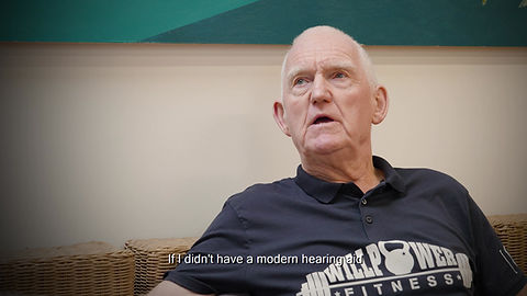 Mike Hurley chats about his new hearing aids