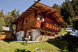 Blick auf Bromberghütte Sommer