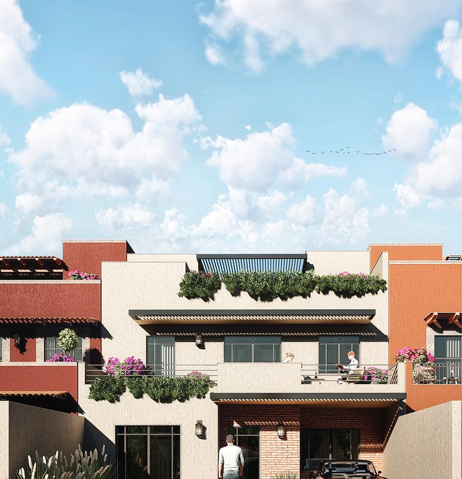 Facade new home San Miguel de Allende