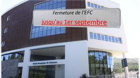 Fermeture de l'Ecole Française du Caucase  jusqu'au 1er septembre