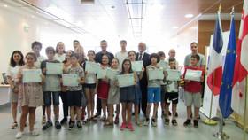 Remise des Diplômes et certificats de Baccalauréat général, Diplôme National du Brevet,   DELF scola